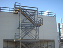 Pultruded FRP stair tower with 304 S.S. hardware